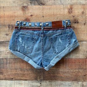 One by One Teaspoon Denim Shorts